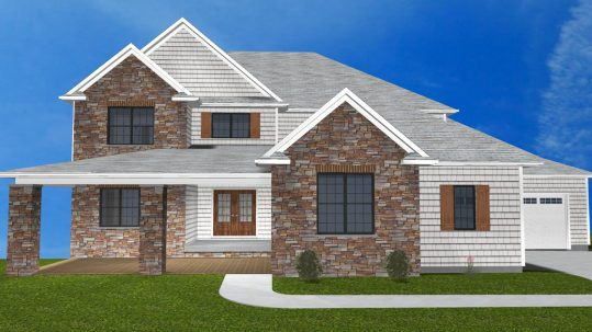 Transitional 2 Story Home Design